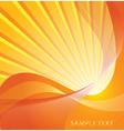 sunburst design vector image vector image