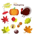 Thanksgiving and autumn decorative elements vector image