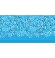 Blue field floral texture horizontal border vector image