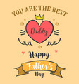 greeting card of father day style vector image