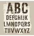 Grunge Letters set vector image