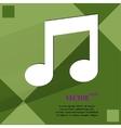 Music note Flat modern web design on a flat vector image