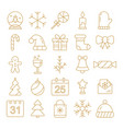 new year icons christmas party elements new year vector image