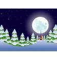 Night Winter Landscape2 vector image