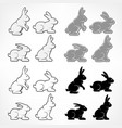 rabbits background vector image