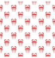 Red gift boxes seamless geometric pattern vector image