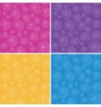 Set of seamless patterns with stylized hand drawn vector image