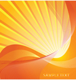 sunburst design vector image
