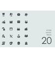 Set of magic tricks icons vector image