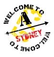 Sydney stamp rubber grunge vector image