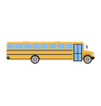 School bus flat icon and logo cartoon vector image