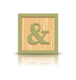 and sign wooden alphabet block vector image