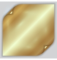 abstract golden metallic rolled foil sheet vector image