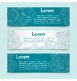 Ornamental banners horizontal vector image