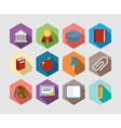 Back to School flat icons design set vector image vector image