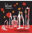 wine sketch vector image vector image