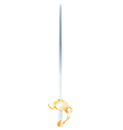 vintage decorated metal sword vector image vector image