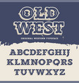 Old West Font vector image