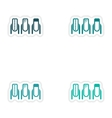 Set of paper stickers on white background manicure vector image