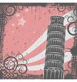 tower of pisa vector image vector image