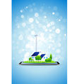 Country House and Power Station on Tablet Computer vector image vector image