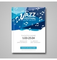 musical flyer Jazz festival Music vector image