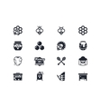 Beekeeping icons Lyra series vector image