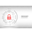 close padlock on digital white background vector image