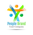 Colorful abstract happy people Concept for social vector image