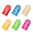 Gift Stickers vector image