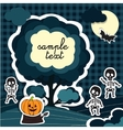 Halloween card style applications vector image