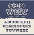 Old West Font vector image