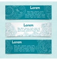 Ornamental banners horizontal vector image