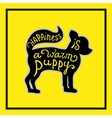 Puppy on the yellow background vector image