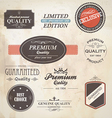 Retro styled labels vector image