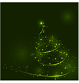 Shining christmas tree the magic christmas tree vector image