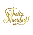 Gold Merry Christmas Spanish Card Golden Shiny vector image vector image