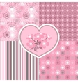 Cherry blossom seamless stylized flowers 4 vector image