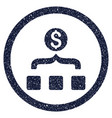 money aggregator rounded grainy icon vector image