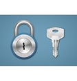 Padlock and key vector image