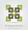 Ecological farming business icon vector image