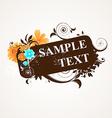 Grunge Spring Floral Design vector image