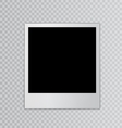 Single photo frame space for your text vector image