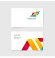 Business visiting card layout design with vector image
