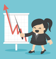 business woman with business growing graph vector image