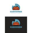cushioned furniture logo vector image