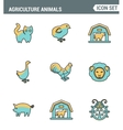 Icons line set premium quality of agriculture vector image