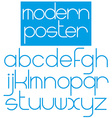 Modern font for poster brochure booklet flyer vector image