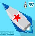 Rocket design element vector image