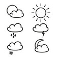 weather of icons vector image